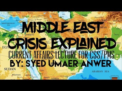 Middle East Crisis and the Arab Spring, Current Affairs Lecture for CSS/PMS