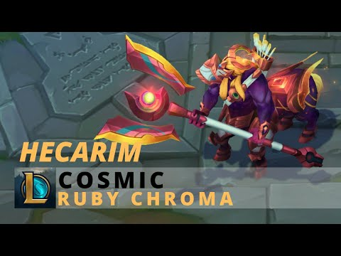 Cosmic Hecarim Ruby Chroma - League Of Legends