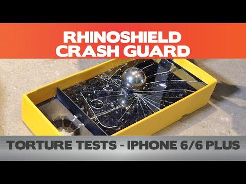 Did it pass the test? RhinoShield Crash Guard Torture Tests (11.5 ft drop, 200g screen test)