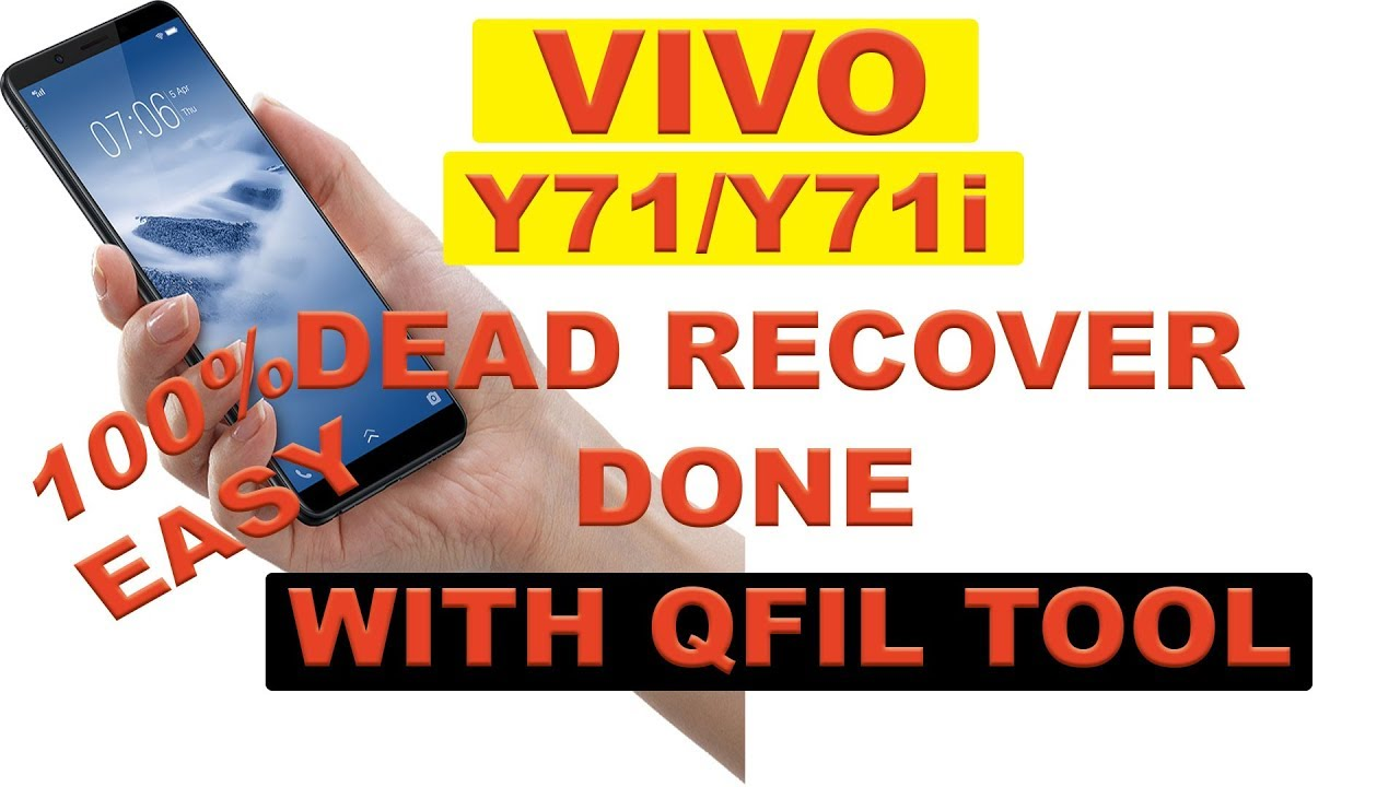 Vivo y71/y71i dead recover done with Qfil tool in Bengali