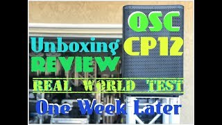 QSC CP12 Unboxing. Review. Real world test. One week later.