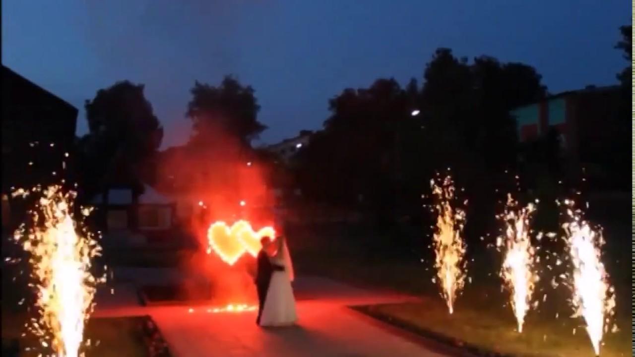 Наземный фейерверк на свадьбу