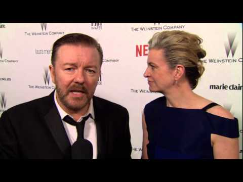 The Golden Globes 2015: Ricky Gervais & Jane Fallon Weinstein Afterparty
