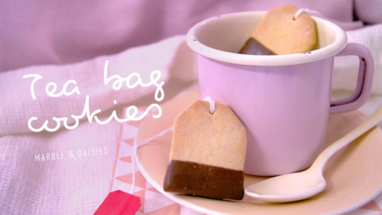 Valentine Tea Bag Cookies