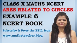 Chapter 12 Area Related to Circles Example 6 Class 10 Maths NCERT