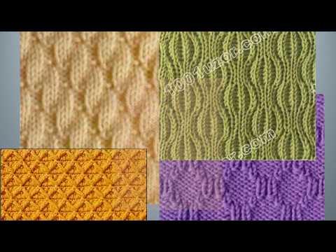 Узоры спицами со схемами рельефные