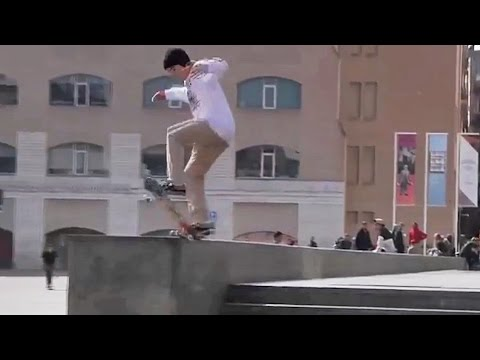 Fs 5-0 360Flip OUT Macba Ledge to Drop!! - WTF! - Joan Galceran