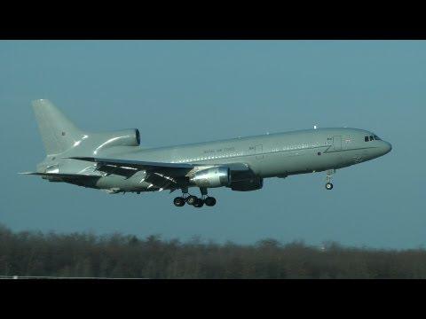 Royal Air Force Lockheed L-1011 TriStar landing (HD)