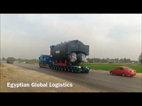 EGL Transporting Boilers from Alexandria Port to Ain Sokhna Site in Suez