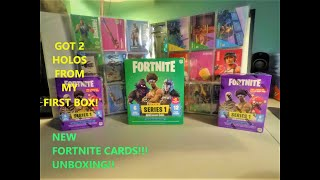 Fortnite trading Cards from Panini Series # 1 !! My first unboxing got two Holofoils !!