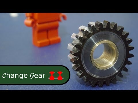 Making a Change Gear for a Proxxon Lathe from Spare Parts
