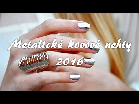 "Metalické ""kovové"" nehty ""DIY""│Best metallic nail idea 2016│Kate Wednesday"