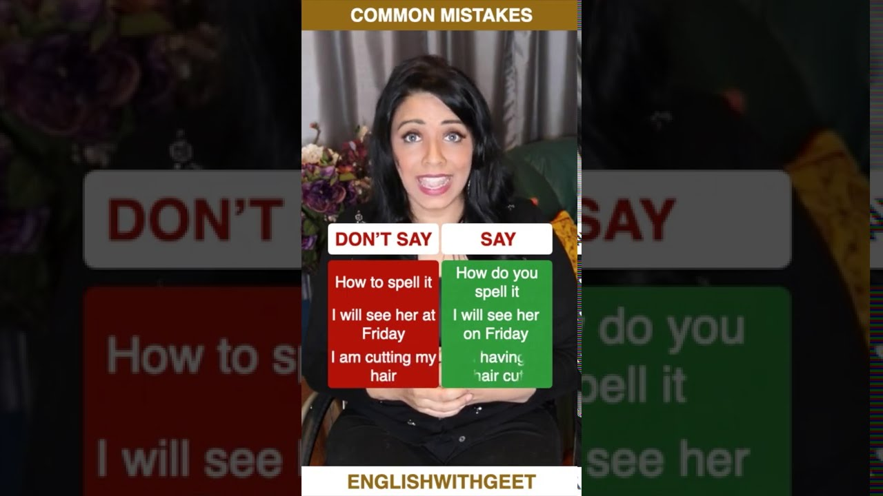 DON'T MAKE These Most Common MISTAKES in English   Grammar Mistakes   English With Geet   #Shorts