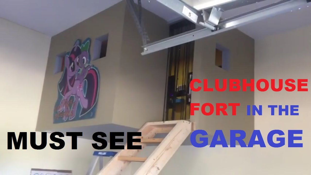 How to make a homemade clubhouse in the garage do it yourself tree youtube premium solutioingenieria Choice Image