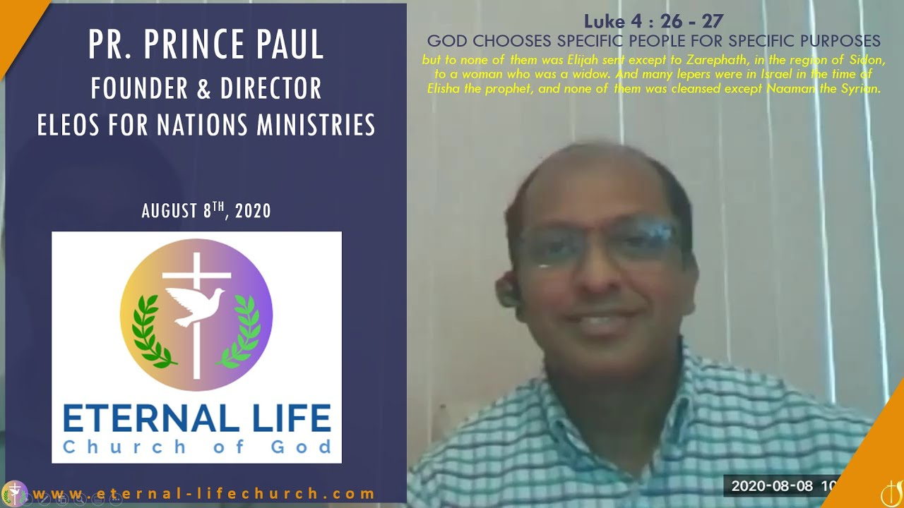 God Chooses Specific People for Specific Purpose - Pastor Prince Paul