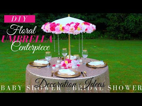 Floral Umbrella DIY Centerpiece | Bridal Shower & Baby Shower Decoration Ideas