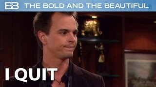 The Bold and the Beautiful / Wyatt is DONE