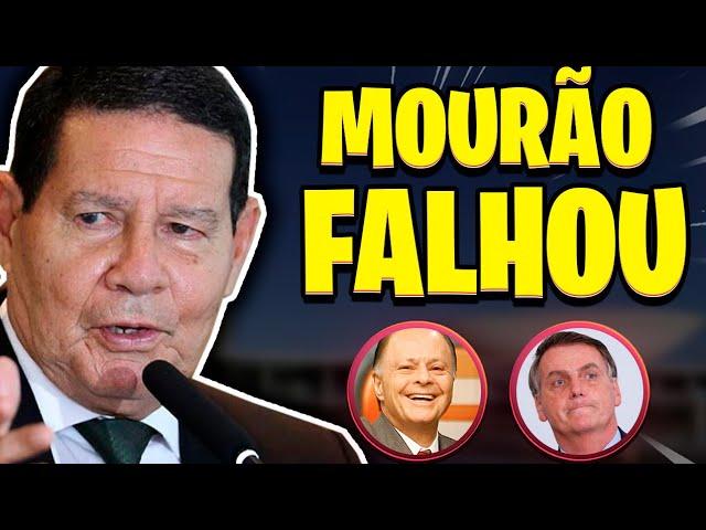 HAMILTON MOURÃO FALHOU!!   BOLSONARO REVOLTADO