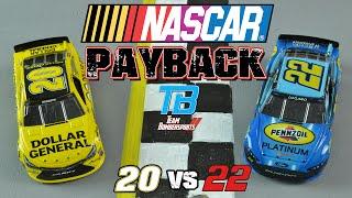 nascar payback episode 1 matt kenseth vs joey logano   stop motion racing