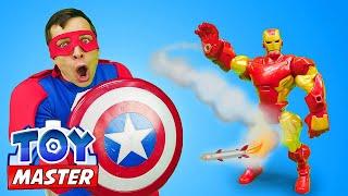 Видео онлайн - Железный Человек против ТойМастера! Супергерои стали Злодеями? – Игры для мальчиков.