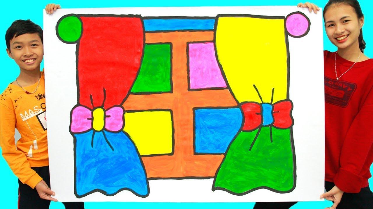 Menggambar Dan Mewarnai Jendela Pelangi Untuk Anak Anak