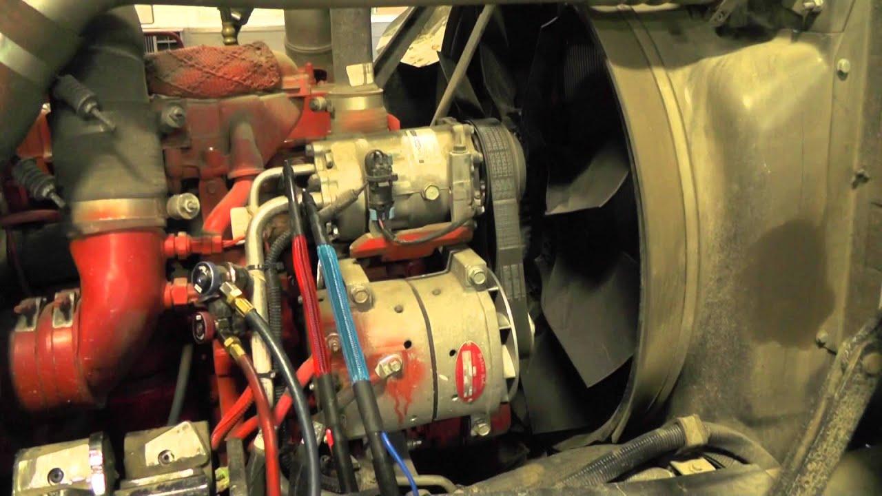 Mack Garbage Truck Natural Gas Engine Starting
