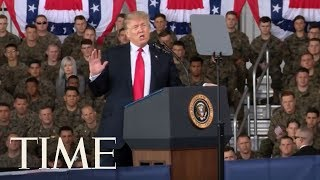 President Trump Speaks To Marines In San Diego On Building Border Wall & Increasing Budget | TIME