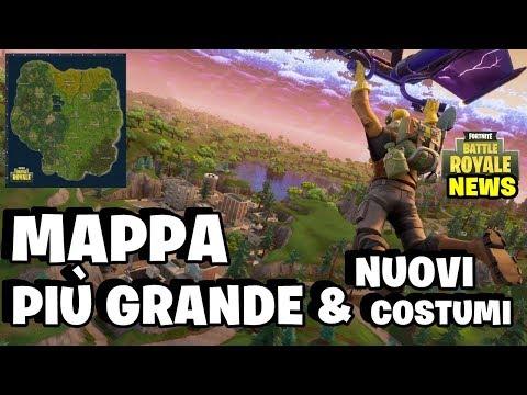 MAPPA PIU' GRANDE & NUOVI COSTUMI ⛏ Fortnite Battle Royale - Pazzox