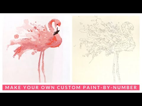 MAKE YOUR OWN CUSTOM PAINT BY NUMBERS with This FREE & Easy Tool! #DIYPBN
