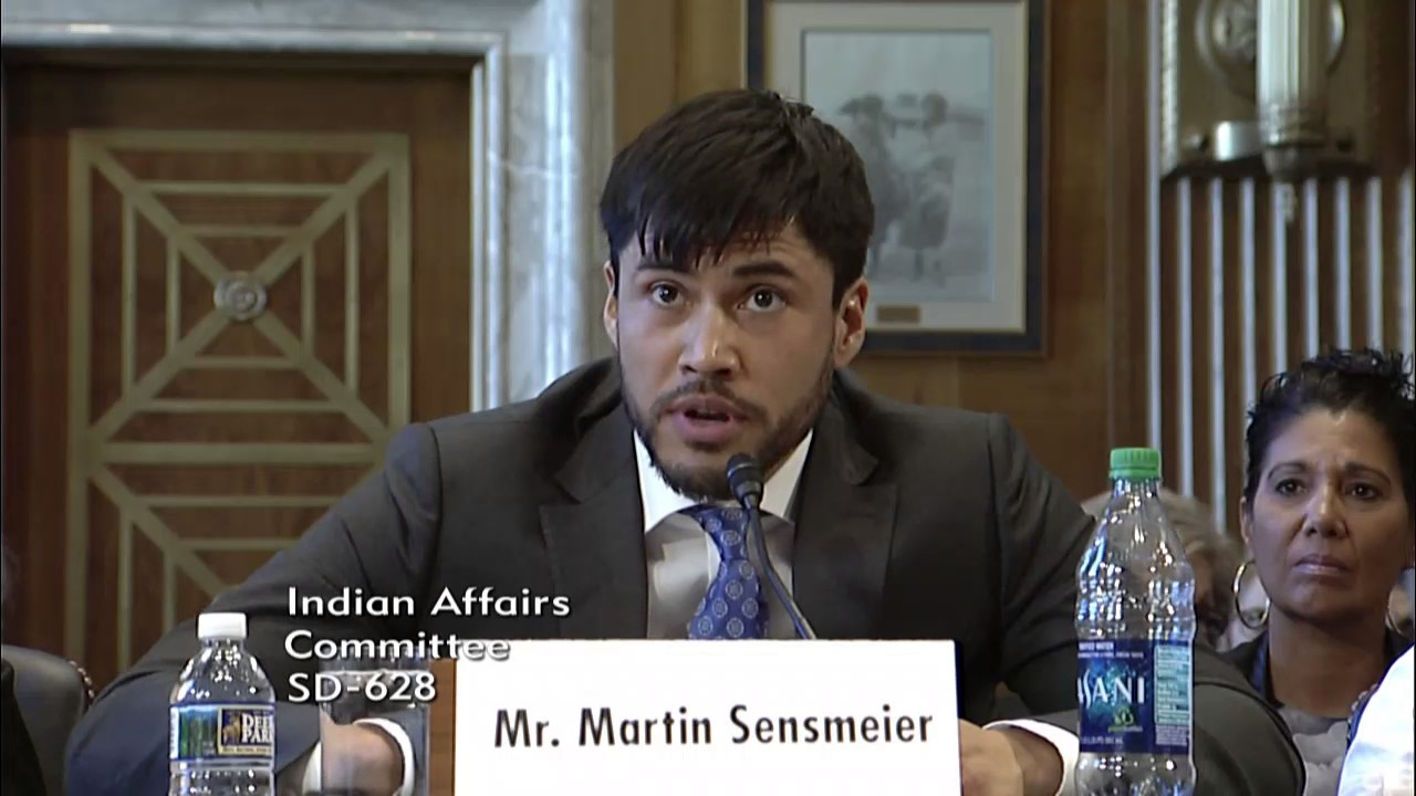 Martin Sensmeier Testifies on Promoting Healthy Lifestyles for Natives