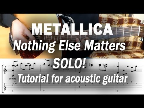 Metallica - Nothing Else Matters(solo) fingerstyle tutorial