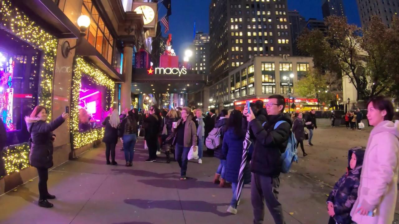 NYC Macy's 34th Street   Herald Square Holiday Windows 2019   YouTube