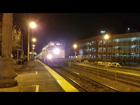 Last Amtrak Downeaster train of the day leaving Haverhill Station 4/22/17