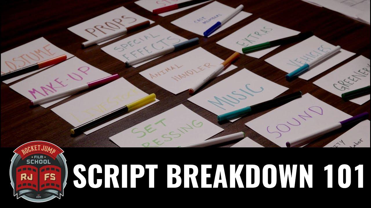 Script Breakdown 101 Youtube