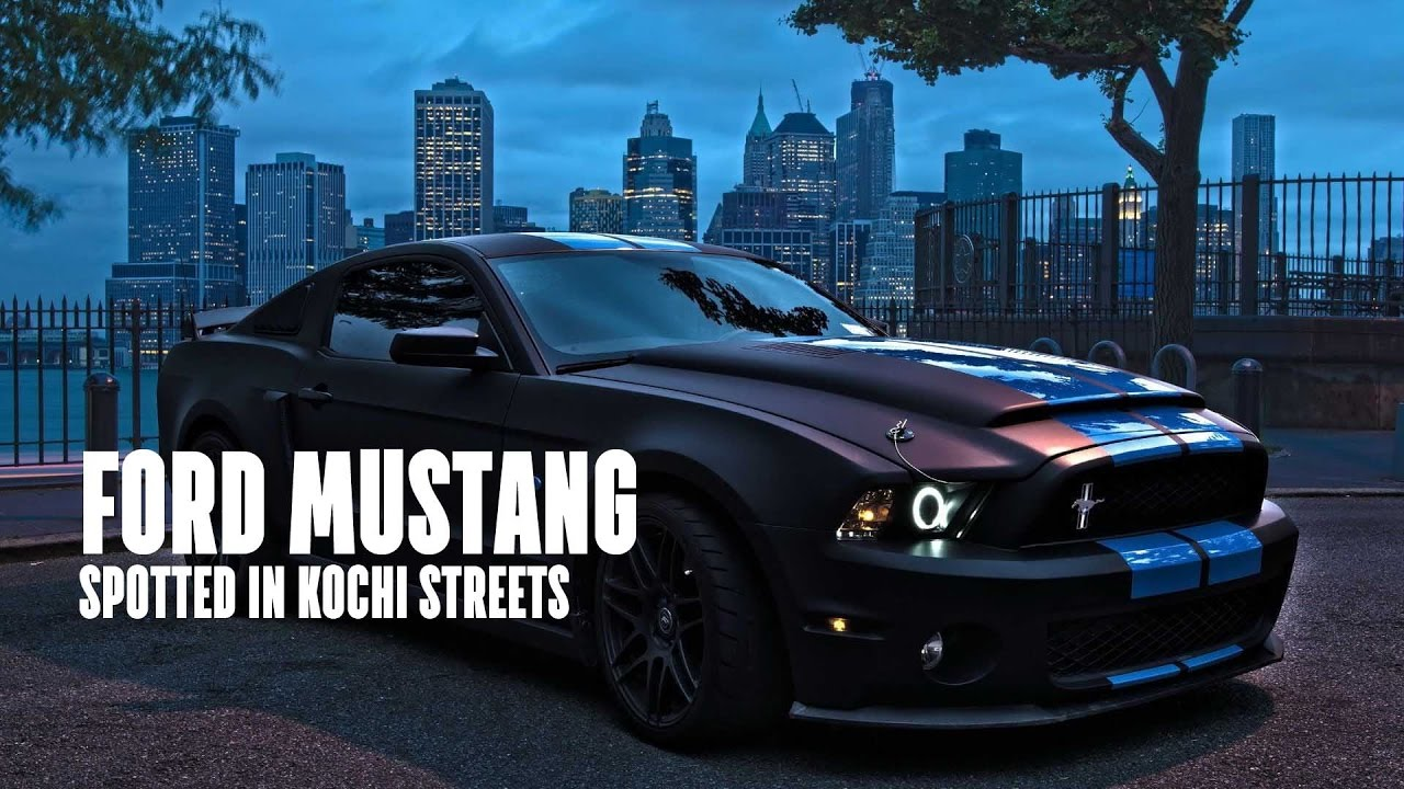 Ford Mustang In The Kochi Streets Price Bhp Spec Youtube