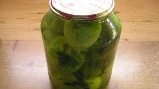 Маринованные фаршированные зелёные помидоры - видео рецепт