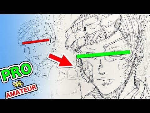 Japanese Pro vs. Amateur|Character Design