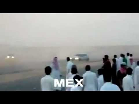 Arab drifting car out of control