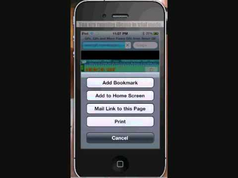 How to save animations/GIFs on yor ipod/iphone without jailbreak ...