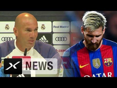 "Zinedine Zidane: Schlechter? Der FC Barcelona ""anders"" ohne Lionel Messi?  | Real Madrid"