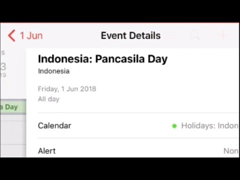 how to add an indonesian holidays calendar 2018 jailbreak and non jailbreak ios 11