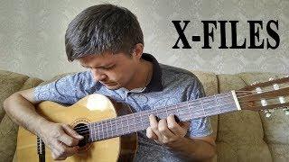 Как играть: THE X-Files Theme на гитаре | Урок для начинающих