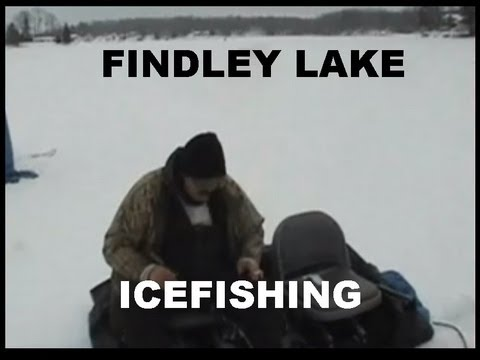 FINDLEY LAKE ICEFISHING