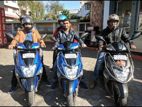 Guwahati To Shillong Ride  TVS NTorq   Rented Scooty From Ahija Guwahati