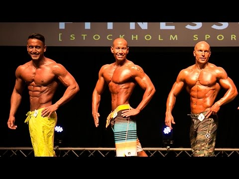Fitnessgalan Men`s Physique up to 178cm Finals