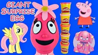 GIANT Yo Gabba Gabba! Play Doh Foofa Surprise Egg Peppa Pig Princess Nick Jr. Eggs