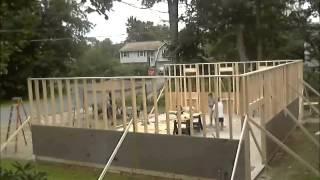 Construction Timelapse - Garage Build - Digging , Pouring , Framing Walls