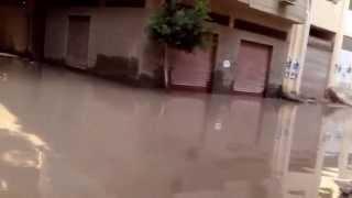 """شاهد.. قرية """"أبيس"""" الرابعة تعاني من أمطار نوة الإسكندرية الأولى"""