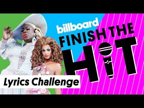 RuPauls Drag Race All Stars Attempt Lyrics Challenge | Finish the Hit | Billboard