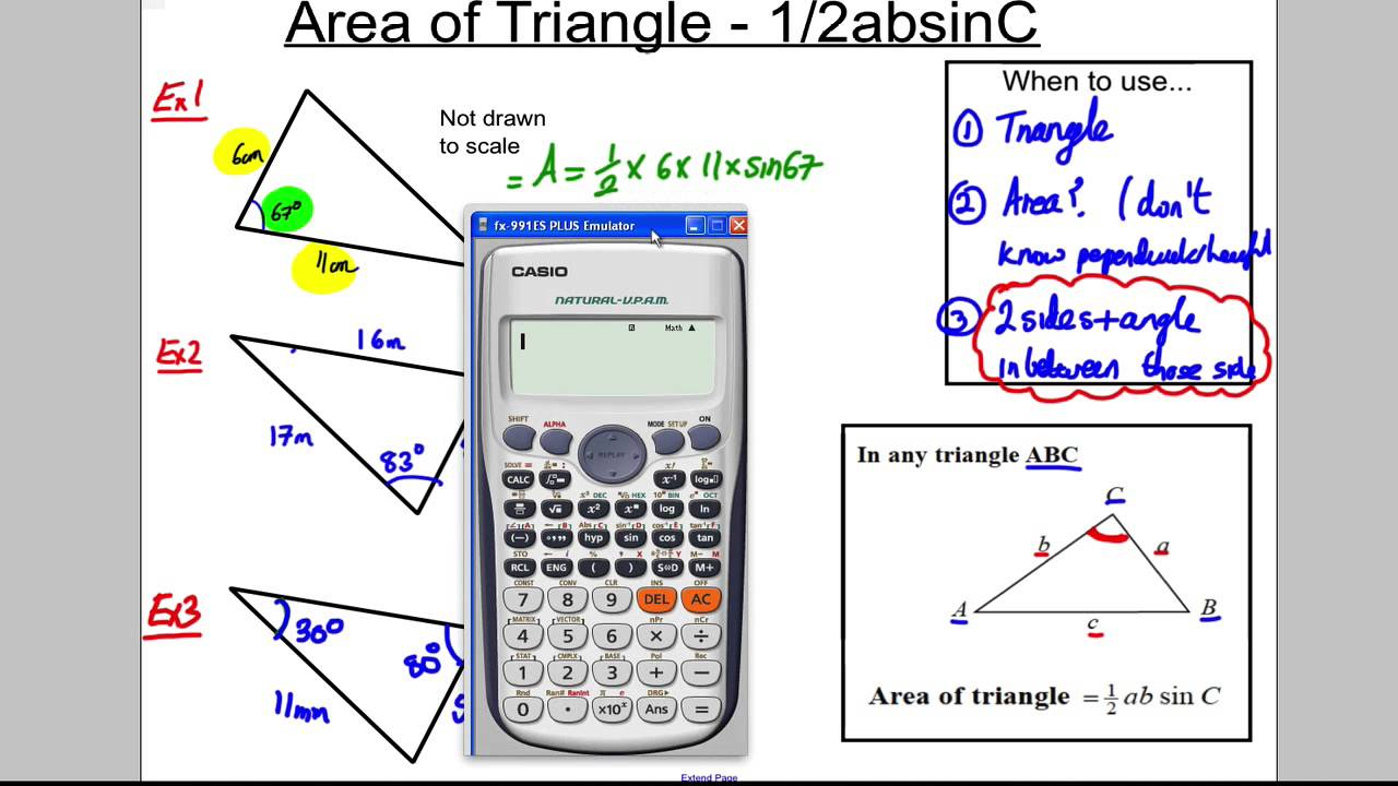 how to work out the area of a parallelogram gcse